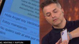Ángel de Brito mostró el chat con la mujer de Horacio Cabak como respuesta al periodista