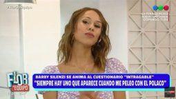 Barby Silenzi recordó su mediática pelea con Silvina Luna por el Polaco