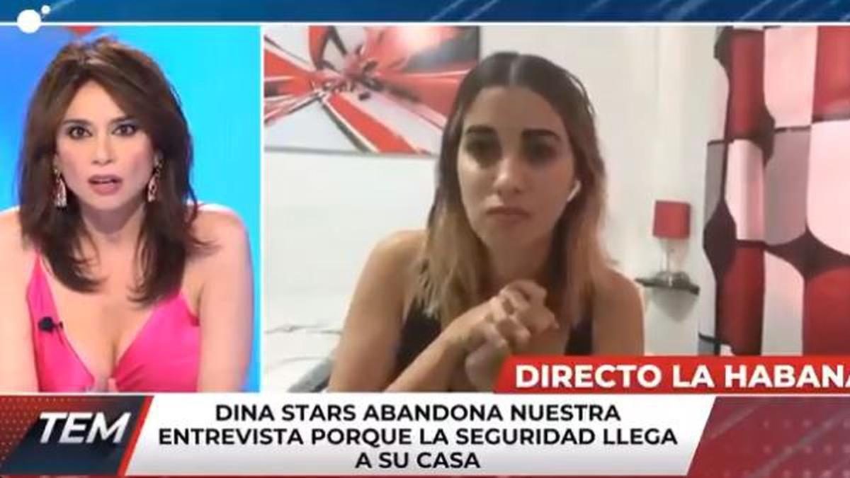 ¡En vivo! La youtuber cubana Dina Stars fue detenida en plena entrevista
