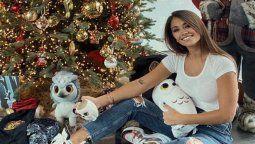 Antonella Roccuzzo estalló las redes al publicar una foto de su gigante árbol de navidad