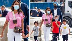 El look super informal que eligió Antonela Rocuzzo para caminar por París
