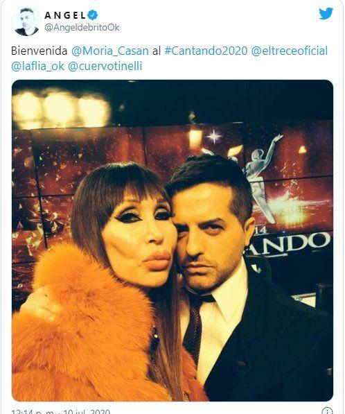 Ángel de Brito hizo el anunció a través de su Twitter y además entrevistó a Moria Casán en LAM