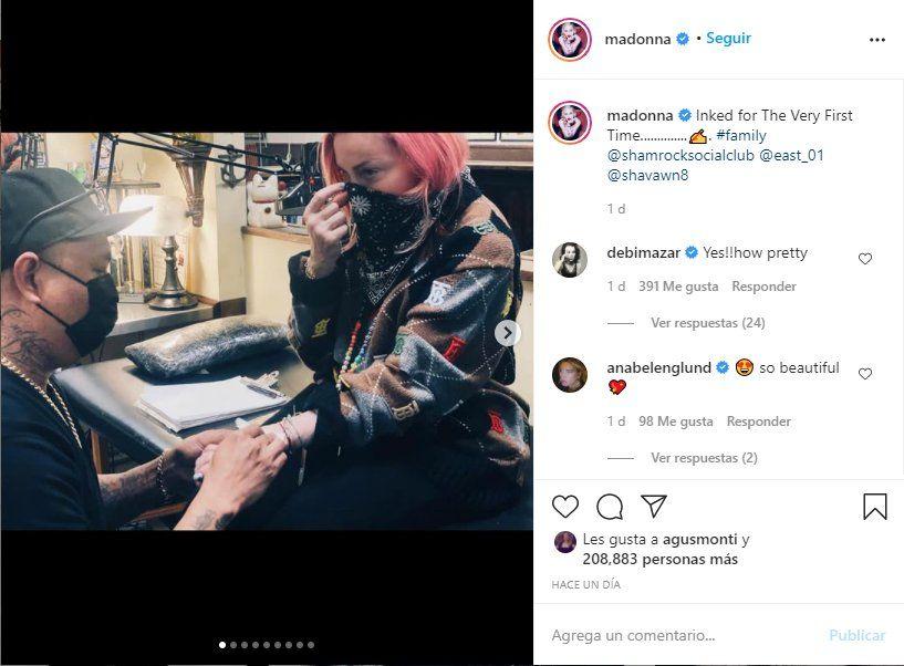 La cantante Madonna mostró en su Instagram todo el proceso del homenaje que hizo a sus hijos.