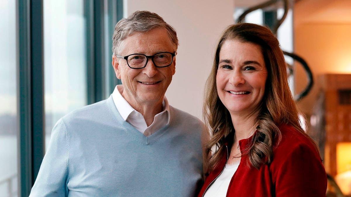 Bill Gates junto a su ex esposa Melinda