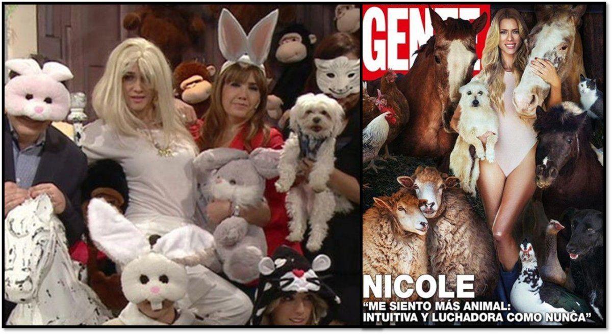 Vero Lozano se ríe de Nicole Neumann: la parodia por la tapa con animales de su chacra