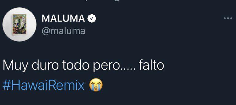 ¡Triste! Maluma lamentó no haber estado en el Super Bowl