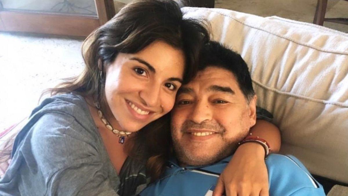 Gianinna se mostró preocupada por la salud de su padre Diego Maradona