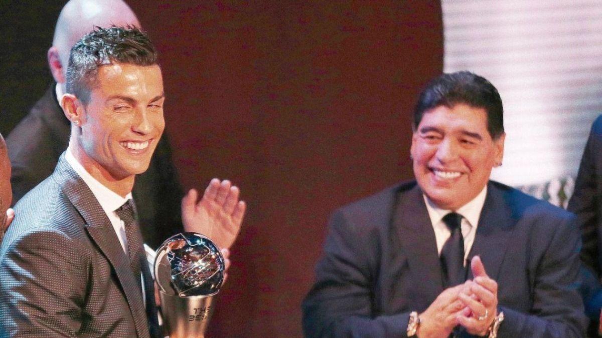 Cristiano Ronaldo le devolvió el elogio a Diego Maradona