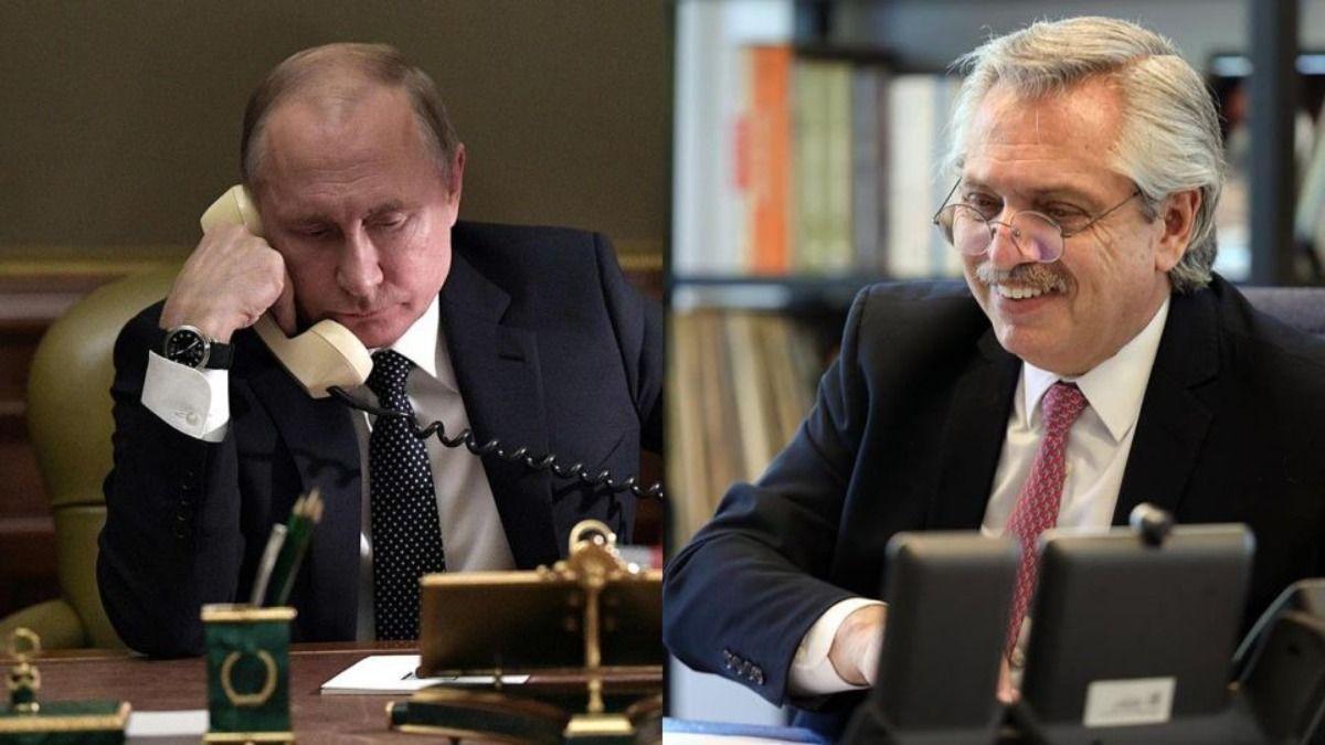 Vladimir Putin ofreció ayuda médica a Alberto Fernández