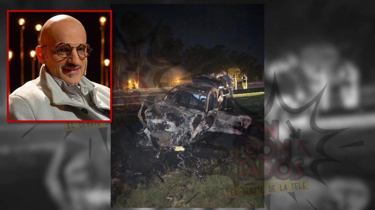 Así quedó el auto del productor Guillermo Marín después del accidente que tuvo en ruta 2
