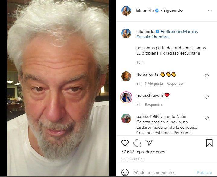 Este es el video que Lalo Mir posteó para repudiar el fimicidio de Úrsula