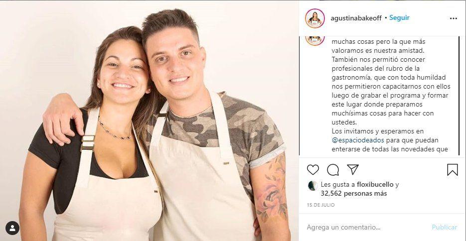 Agustina Guz anunció a través de Instagram la creación de su emprendimiento junto a Damian