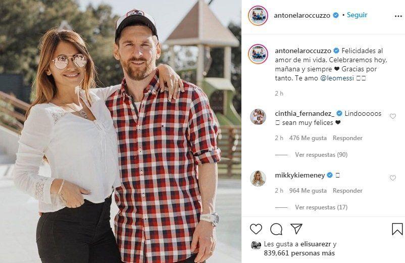 Antonela dedica mensaje a Messi