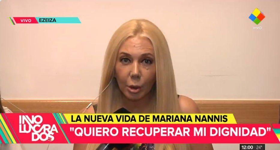 La furia de Mariana Nannis en su regreso; Caniggia, Maradona, Villafañe, violencia y negocios turbios: Salí a trabajar a la fuerza