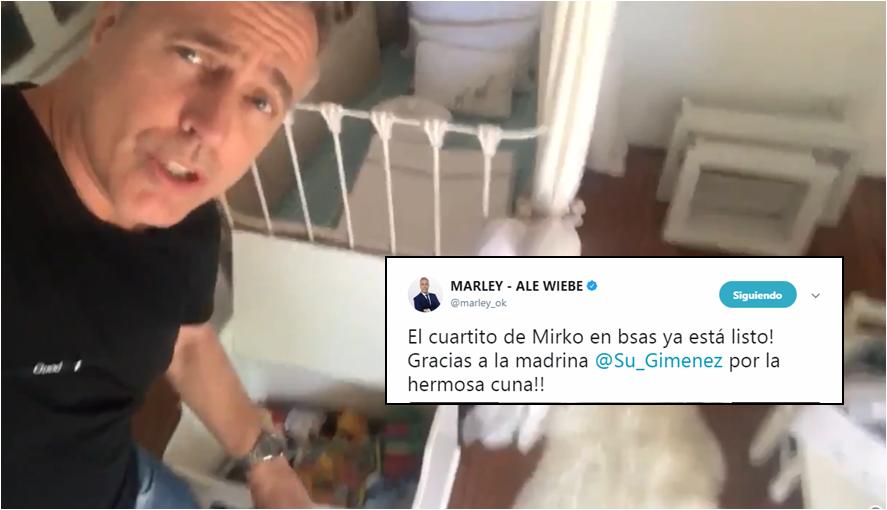 Marley mostró el cuarto de Mirko: Susana le regaló la cuna; y con Flor Peña le compramos ropa de El Sultán