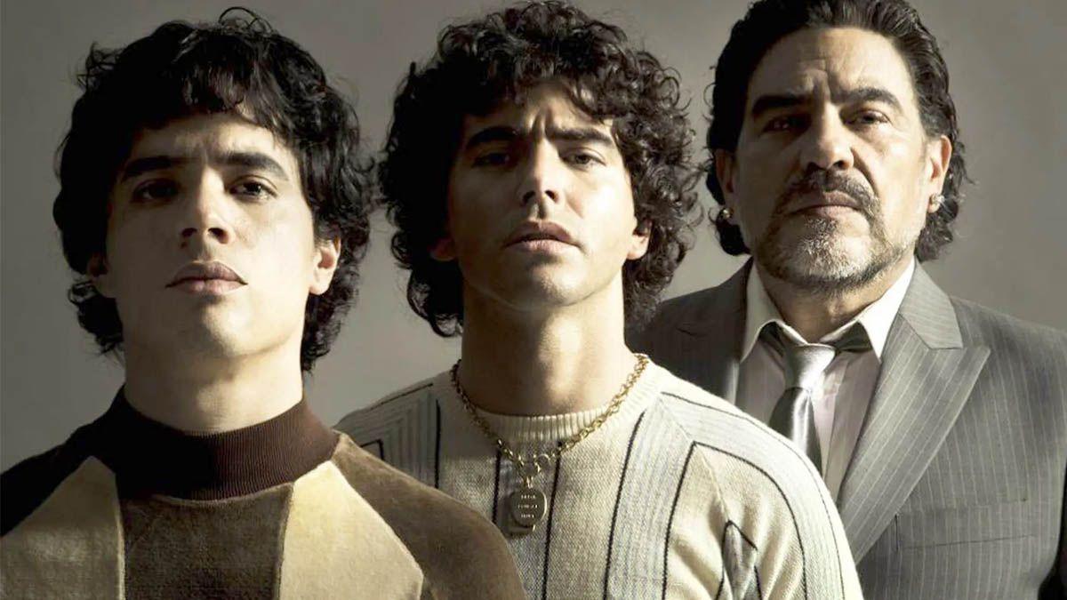 Amazon posteó en sus redes sociales imagenes de la serie de Diego Maradona