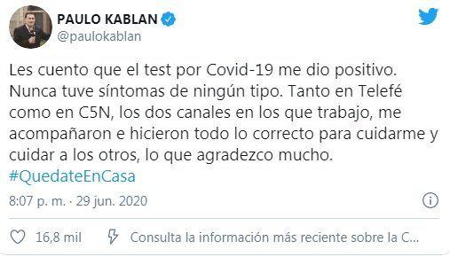Tuit de Paulo Kablan
