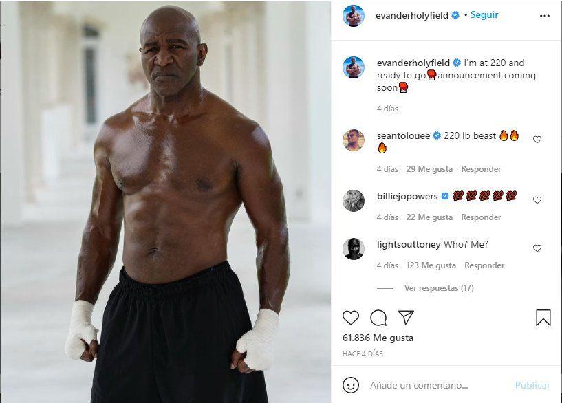 A través de un comunicado Evander Holyfield anunció una posible pelea con Tyson