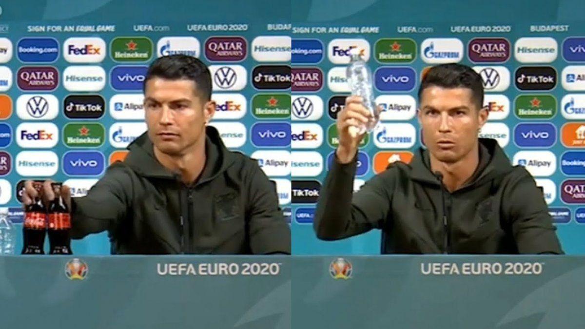Un solo gesto de Cristiano Ronaldo hizo perder a Coca Cola 4000 millones de dólares