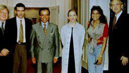 Madonna con el ex presidente Carlos Menem