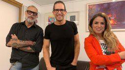 Jorge Rial junto a Diego Ramos y Marina Calabró: la cara de TV Nostra