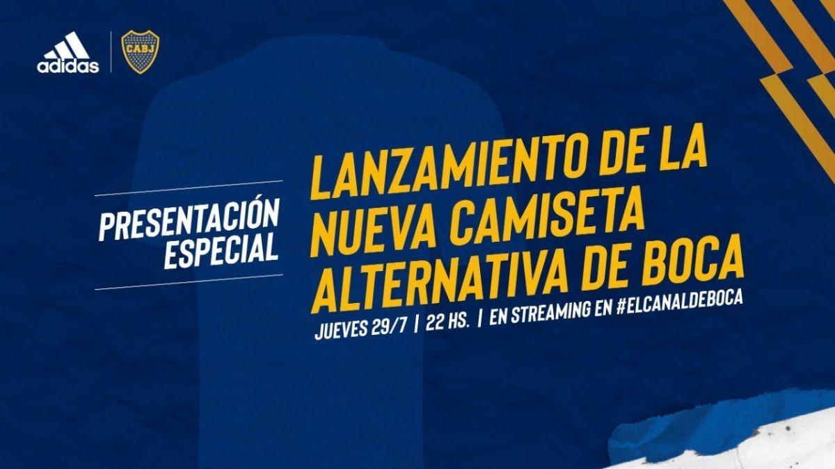 La nueva camiseta de Boca Juniros lleva escrita la palabta Xeneize en la espalda