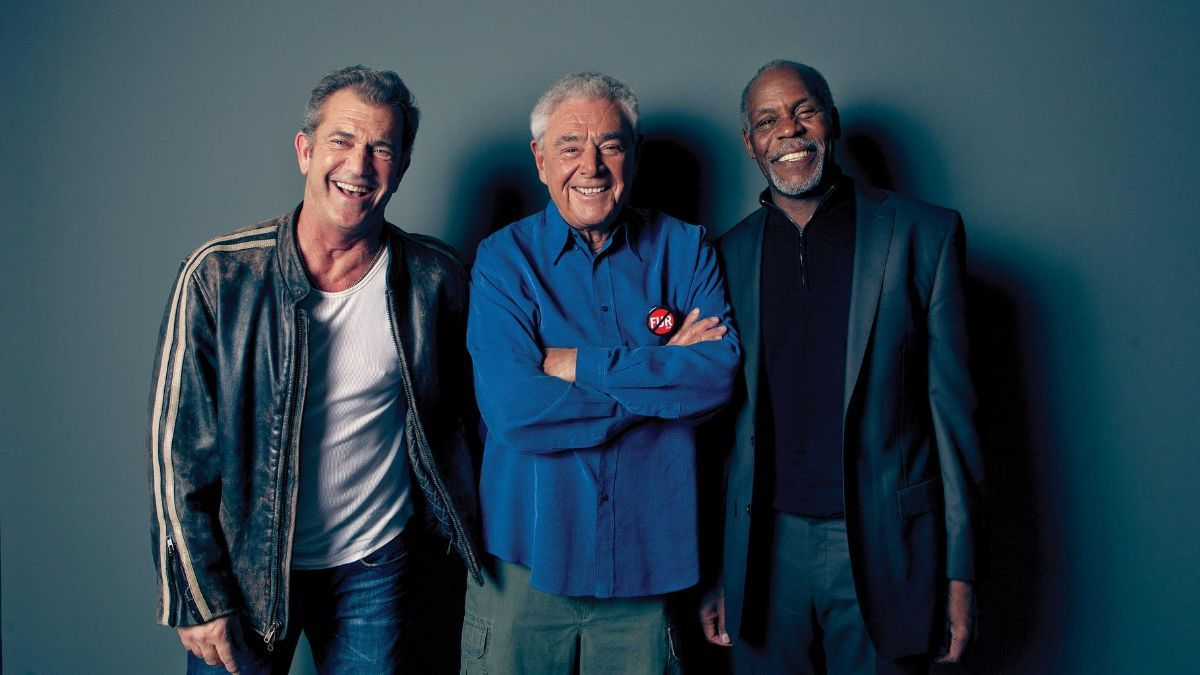 Mel Gibson y Danny Glover junto al director Richard Donner