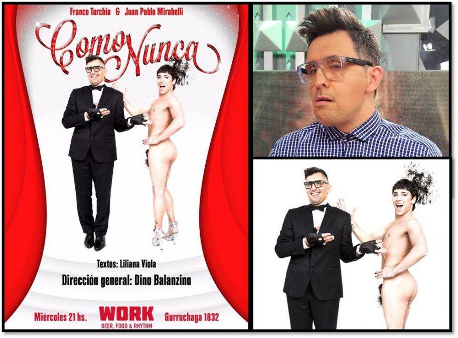 El panelista que se dedica al teatro: Franco Torchia debuta con su espectáculo