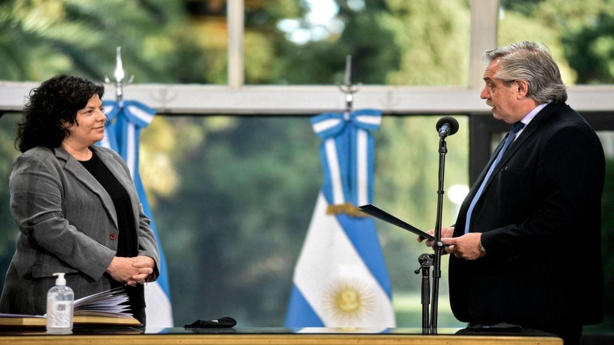La Ministra Carla Vizzotti fue juramentada por el presidente luego de la salida de Ginés González García