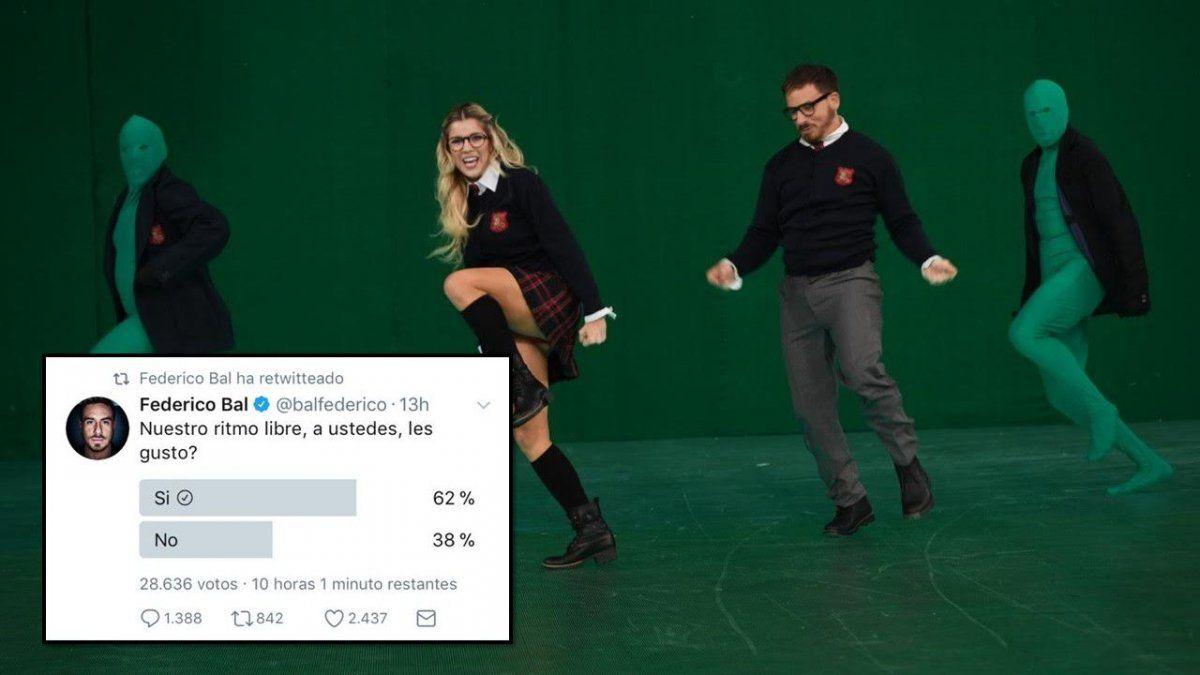 Fede Bal desafió a Tinelli y armó una encuesta en twitter por el ritmo libre