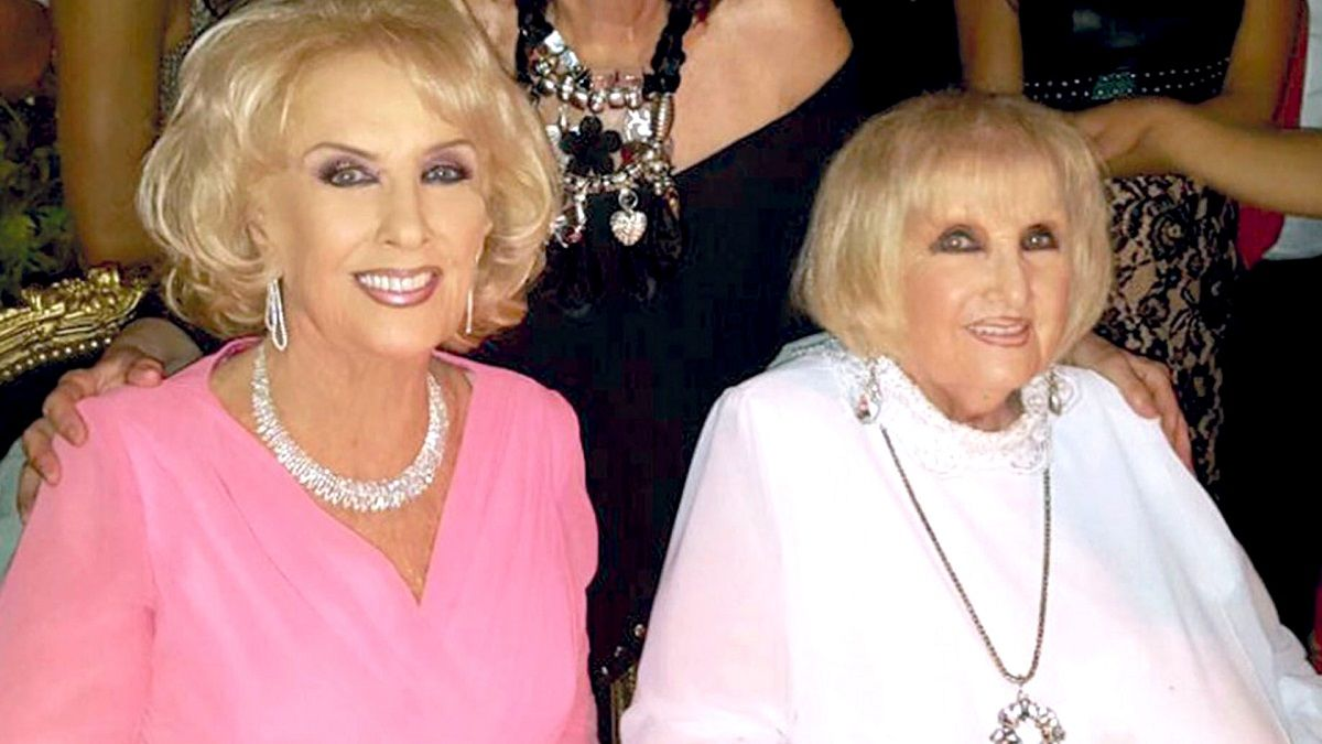 Mirtha Legrand junto a su hermana