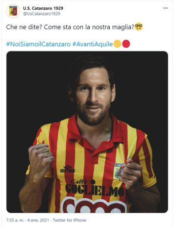 Este es el tuit que el Cantazaro dedicó al jugador argentino Lionel Messi