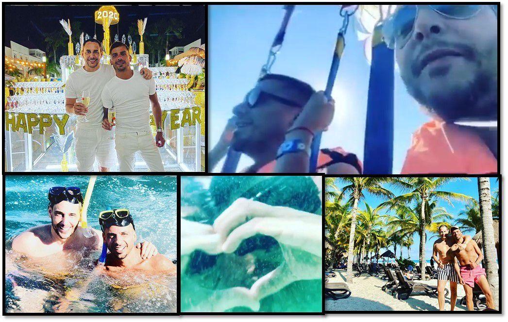 Las románticas vacaciones de Rodrigo Lussich y su novio Juan Pablo: sol, playa y propuesta de casamiento en la altura