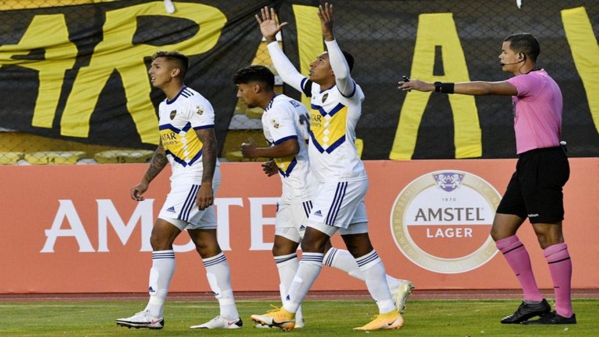 Sebastían Villa marcó el gol de Boca Juniors en la altura de La Paz