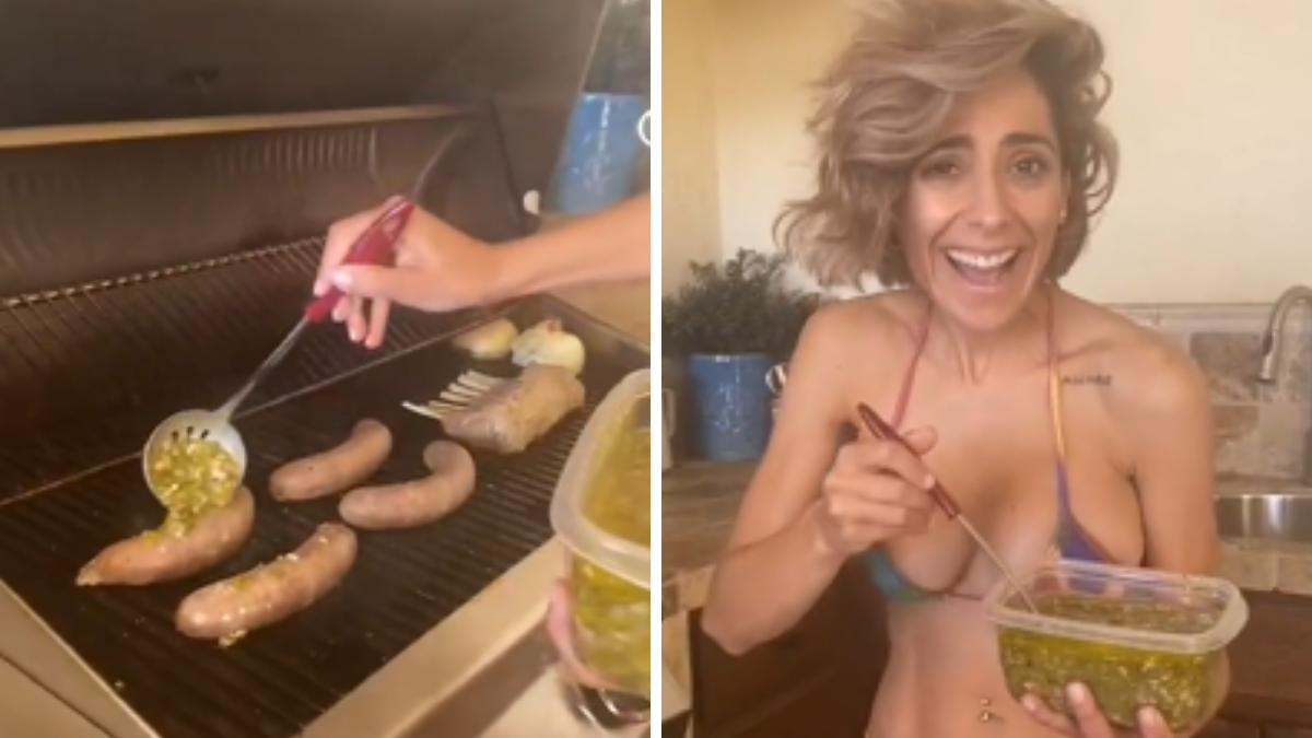 Victoria Vanucci quemó unos chorizos veganos a la parrilla