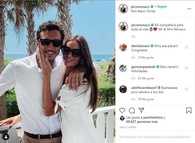 La pareja hizo el anuncio a través de las redes sociales