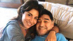 Gianinna Maradona junto a su padre, el jugador de futbol campeón del mundo Diego Maradona