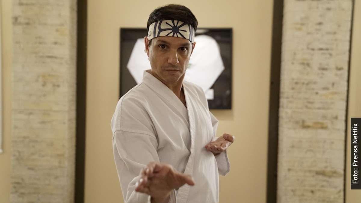 El actor Ralph Macchio quien intrepreta a Daniel LaRusso en Cobra Kai