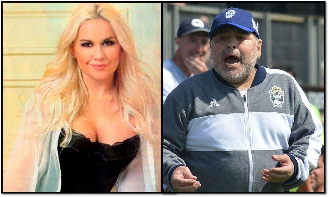 Verónica Ojeda se sienta el domingo en el living de Susana y ya explotó la furia de Maradona