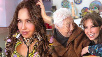 ¡Horrible! Thalía sufre por el estado de su abuela