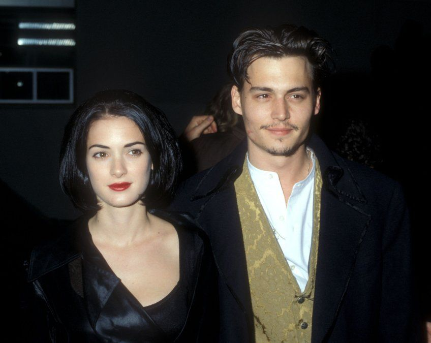 Winona Ryder y Johnny Depp fueron pareja en los 90