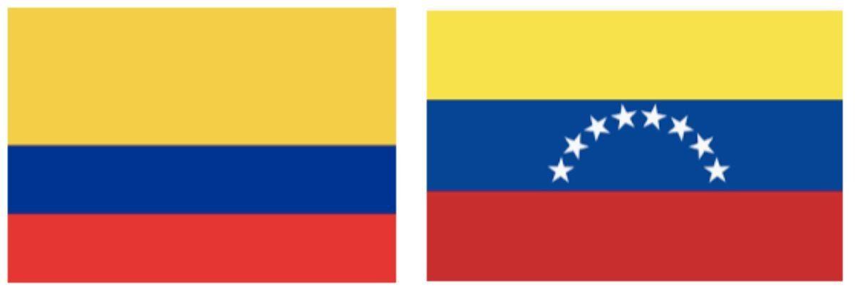 Amalia Granata confundió la bandera de Venezuela con la de Colombia