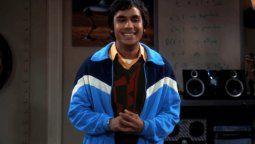 Kunal Nayyar interpretó a Raj en The Big Bang Theory