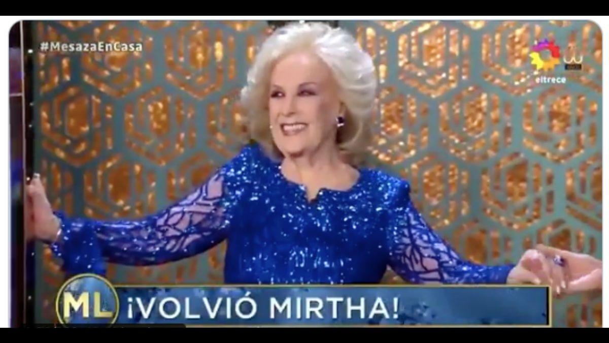 La vuelta de Mirtha Legrand