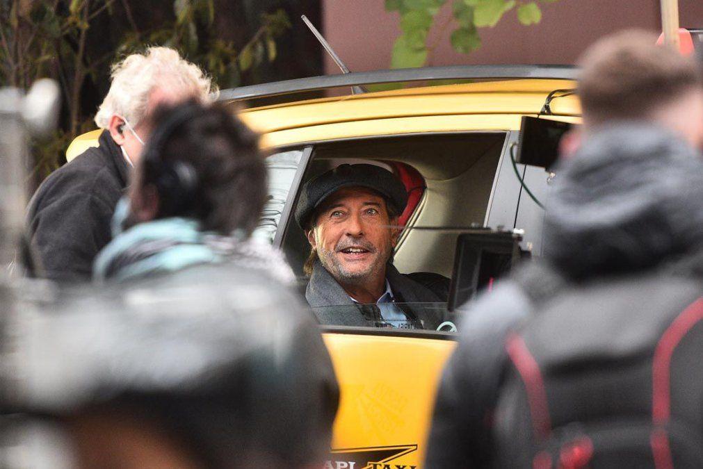 Guillermo Francella durante el rodaje de Granizo en Córdoba