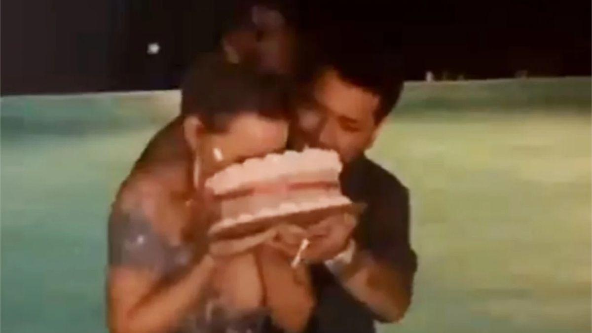Christian Nodal le da tremendo pastelazo en la cara a Belinda en pleno cumpleaños
