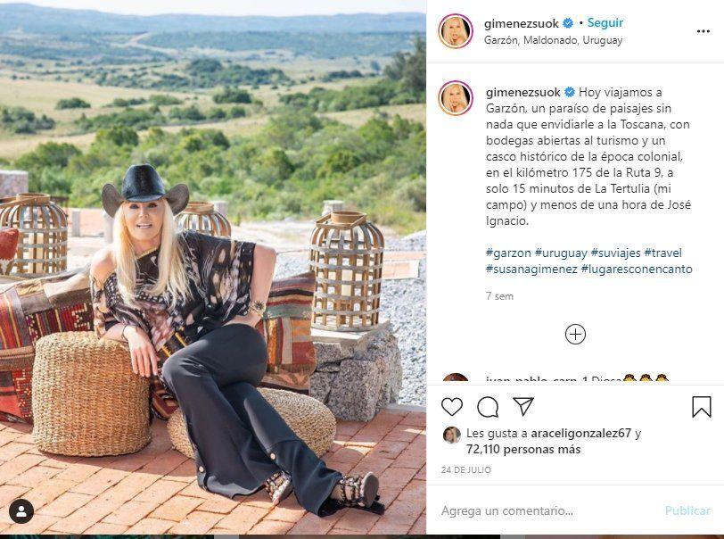 La presentadora Susana Giménez al parecer no posteará fotos como estas