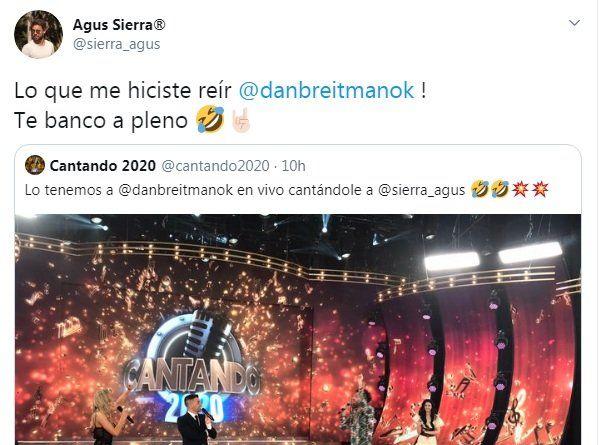 La reacción de Agustín Sierra en Twitter