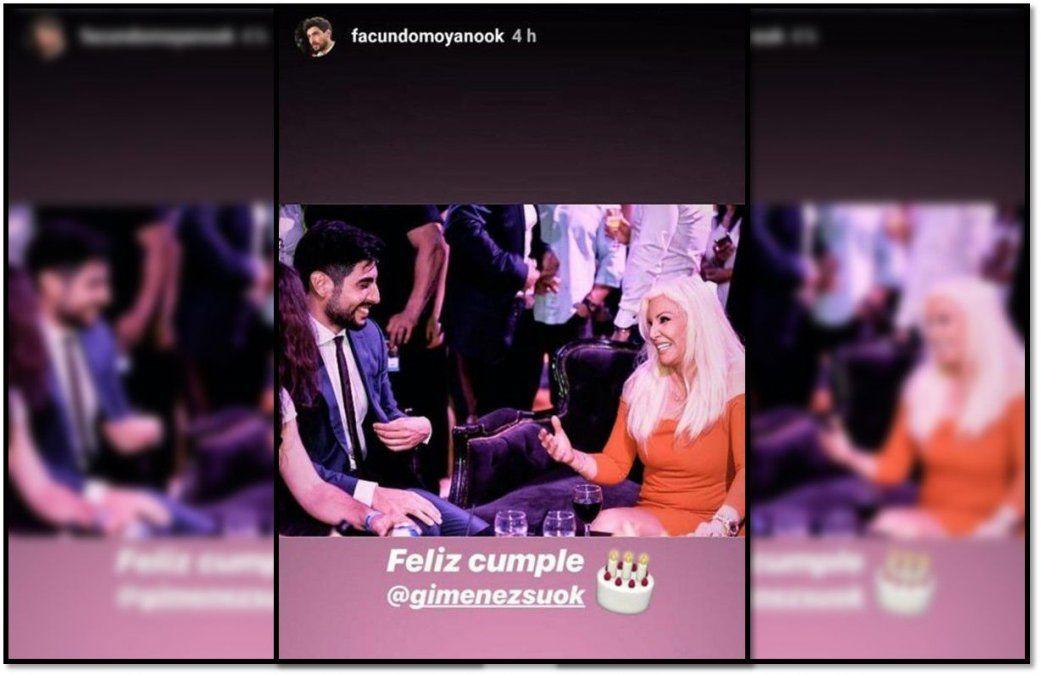 El especial saludo de Facundo Moyano a Susana Giménez