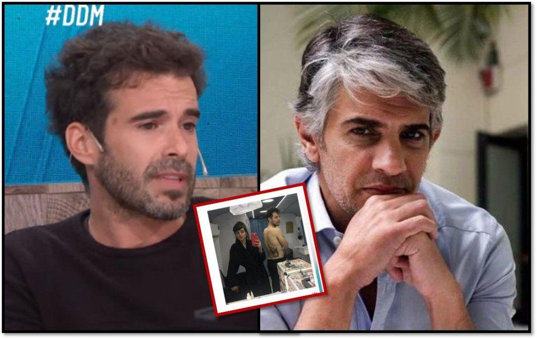 Nicolás Cabré mostró a su doble para las escenas de sexo y para demostrarle a Echarri que no miente